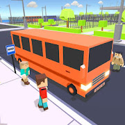 Free Coach Bus Driver Blocky Game Public Transport Sim APK for Windows 8