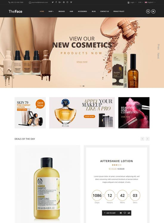 Theface - Cosmetic Magento theme