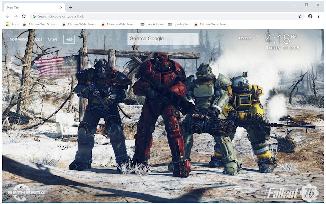 Fallout 76 HD Wallpapers New Tab Themes