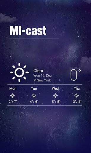Minimalism Theme Weather Clock
