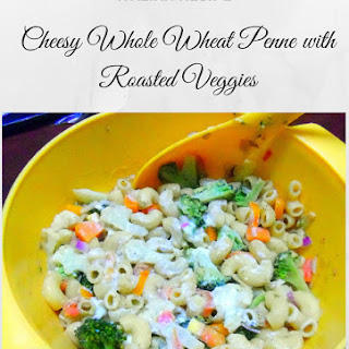 Cheesy Whole wheat Pasta with Roasted Vegetables