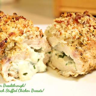 Cheesy Spinach Stuffed Chicken Breasts!.