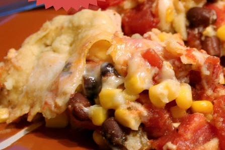Crockpot Mexican Lasagna Stack Up