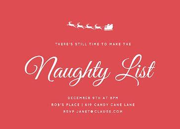 Make the Naughty List - Christmas Card template