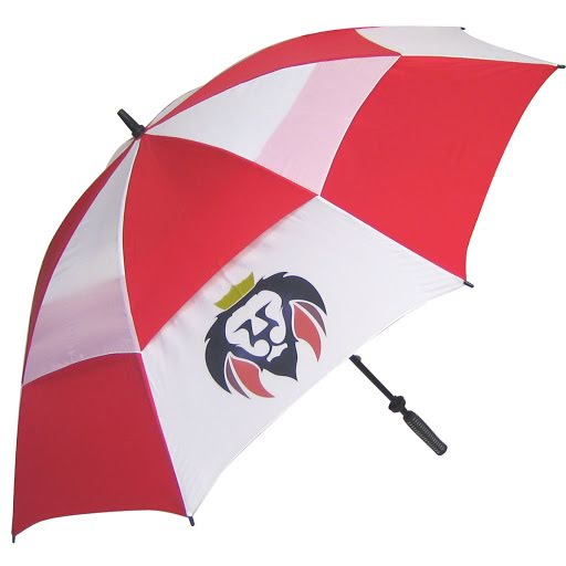 Supervent Golf Umbrellas - Red & White