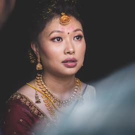 Gossip by Biswaroop De - Wedding Bride ( bride, northeastbride, candid, southindianwedding, wedding )