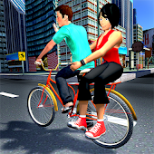 Modern City BMX Bicycle Taxi Driving Simulator 18