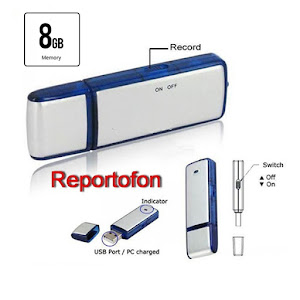Reportofon foto-video cu activare vocala. Memorie interna 8 GB.