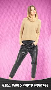 Dívka kalhoty fotomontáž - náhled