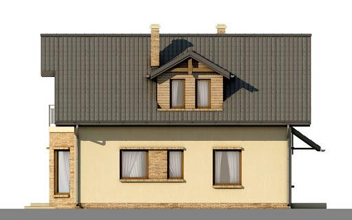 D41 - Kasia wersja drewniana - Elewacja lewa