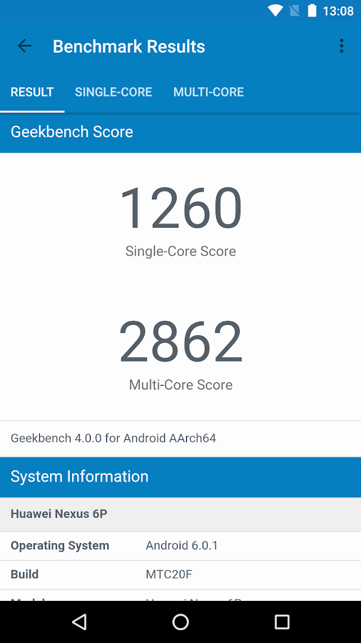 Geekbench 4- screenshot