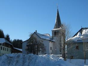 Photo: L'Eglise et le cimetiére sous la neige