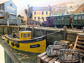 Photo: 009 An atmospheric waterfront scene at Crackington Quay, 7mm scale scenic modelling at its best .