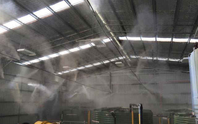 Hệ thống phun sương cao áp ống đồng có tác dụng hạ nhiệt nhanh