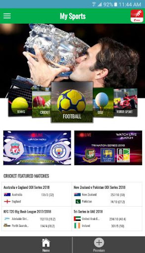 My Sports - Airtel 4.1 screenshots 1