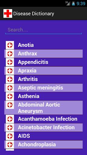 Medical Dictionary Disease