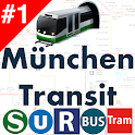 Munich Transport MVV MVG DB Bahn Bus Tram time map icon