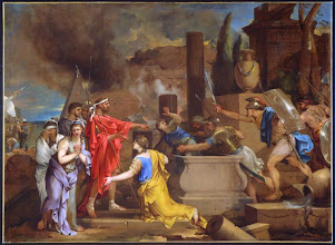 Photo: Sébastien Bourdon - Astyanax découvert par Ulysse dans le tombeau d'Hector 125.5x171.5 Ottawa musée des Beaux-Arts du Canada
