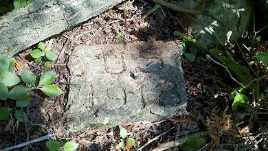 Photo: Survey Marker found by Magellan - Last found 1969.