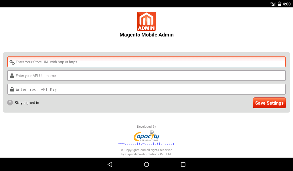 Magento Admin- screenshot