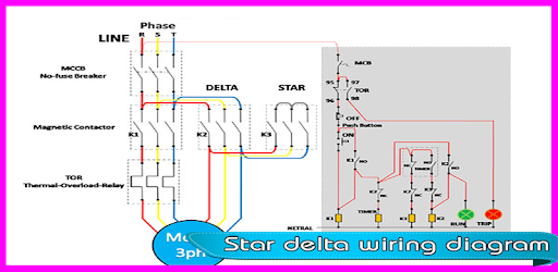Star Delta Wiring Diagram app (apk) free download for Android/PC/Windows