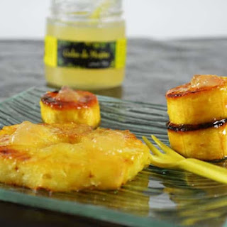 Pineapple and Banana roasted with honey