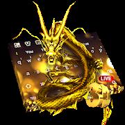 3D Leben Gold Drachen Tastatur
