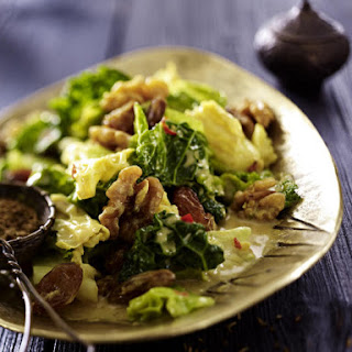 Spiced Savoy Cabbage with Raisins and Walnuts.