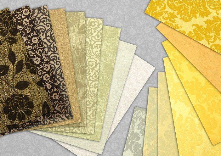 Образцы текстильных обоев