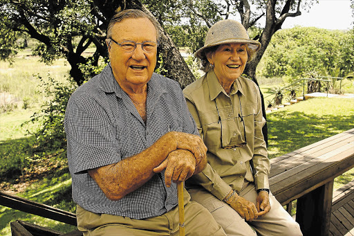 BIG DEAL: Michael Rattray with his wife, Norma, at their game reserve, MalaMala