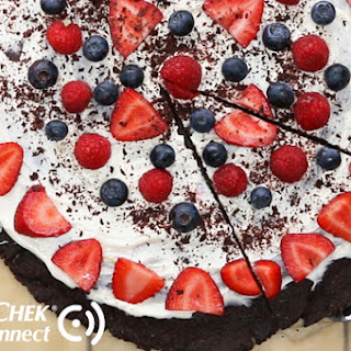 Diabetes-Friendly Chocolate Cookie Pizza.