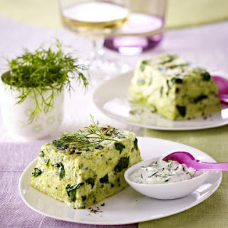 Mini Cod and Spinach Terrines.