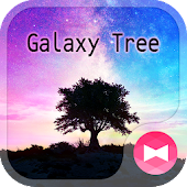 Beautiful Wallpaper Galaxy Tree Theme