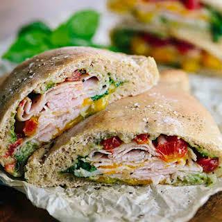 Whole Wheat Turkey Cheddar Pocket Sandwiches.