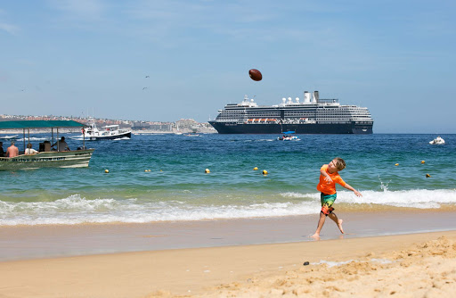 The beach at Cabo San Lucas is made for kicking back and people watching.