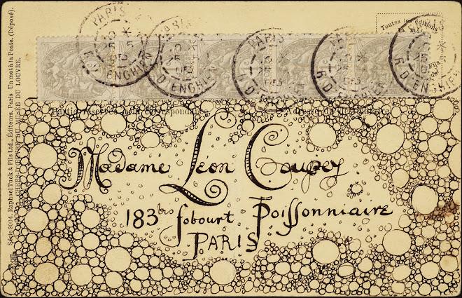 <p> <strong>L&eacute;on Coupey<br /> To Madame L&eacute;on Coupey (Paris)</strong><br /> Ink on card<br /> 3 &frac12;&quot; x 5 &frac12;&quot;<br /> 1905</p> <p> Collection Pierre Coupey, Vancouver<br /> Set 2.6</p>