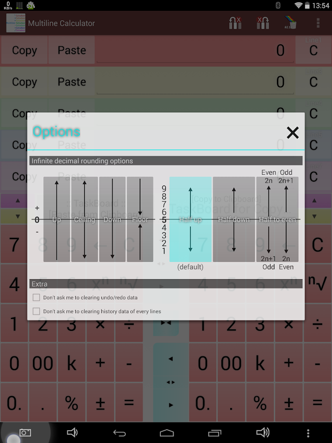 Multiline Calculator intuitive- screenshot