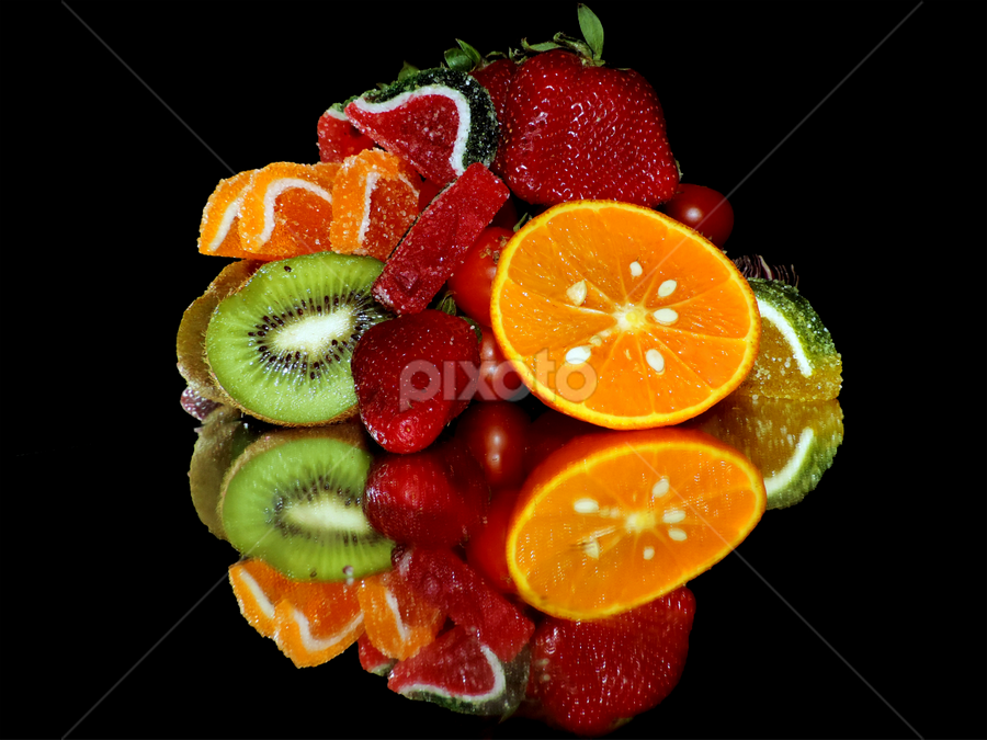 fruits with the candys by LADOCKi Elvira - Food & Drink Fruits & Vegetables ( candys, fruits,  )
