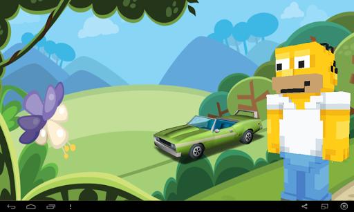 Homer Car Racing Simpson