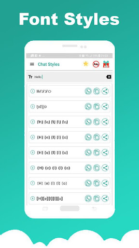 Chat Styles: Cool Font & Stylish Text for WhatsApp 7.1 Screenshots 11
