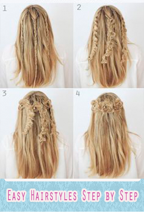 Simple Hair Styles Extraordinary Simple Hairstyles Step  Android Apps On Google Play