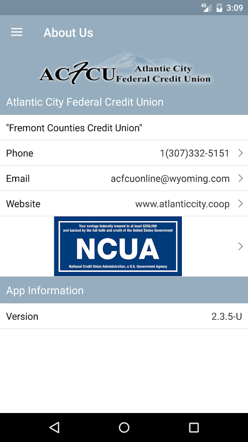 Atlantic City FCU- screenshot