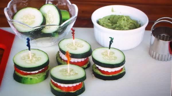 Breadless Cucumber Sandwich. By Eddie