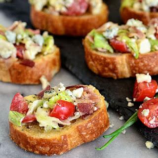 Blue Cheese Wedge Salad Crostini