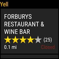 Screenshot of Yell Local Search