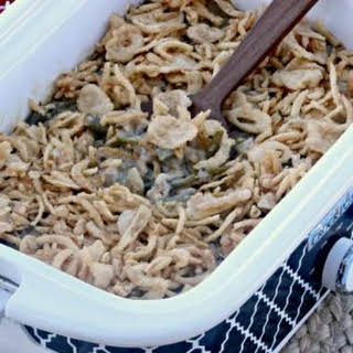 Easy Crock pot Green Bean Casserole.