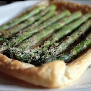 Asparagus Tart with Yoghurt Mustard Mousse