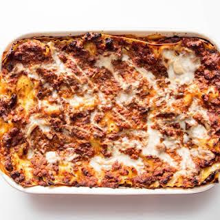Vegan Lasagna alla Bolognese.