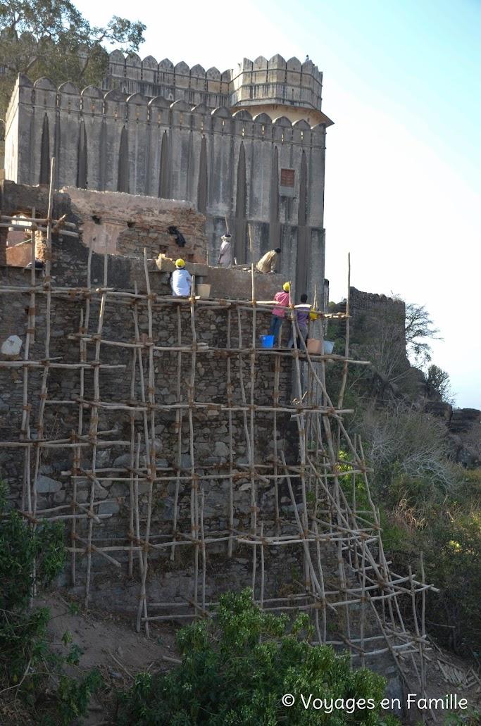 Kumbhalgarh, échafaudage
