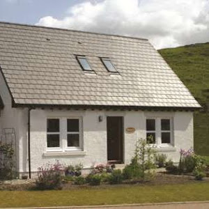 a rural home with a pitched roof